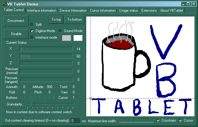 Maybe I can't draw - but with VBTablet, your users can! :-)